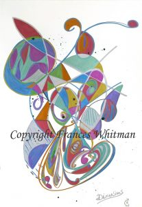 Frances Whitman painting  'Dimensions' with copyright-resized