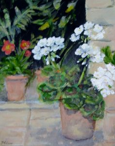 Dawn Niven Pots on the Patio